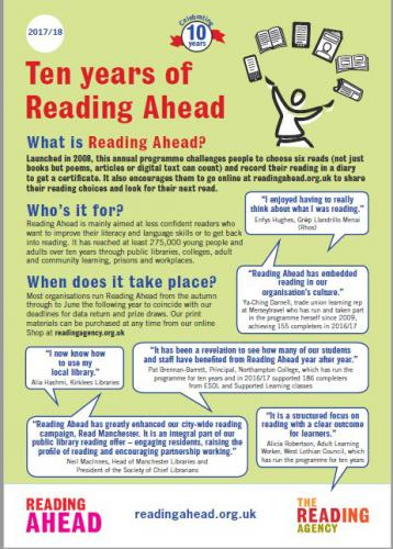 10 Years of Reading poster