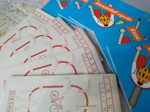 cycling maps and booklets