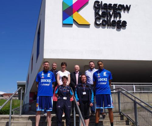Alan Sherry and basketball academy staff