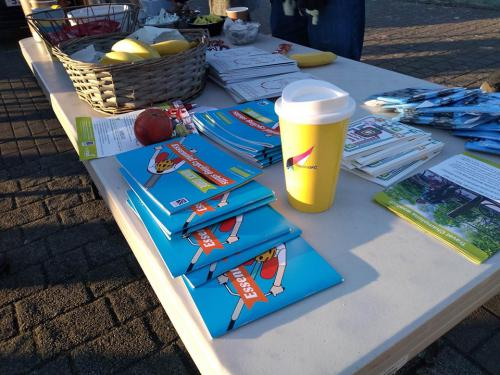 pamphlets and reusable cup