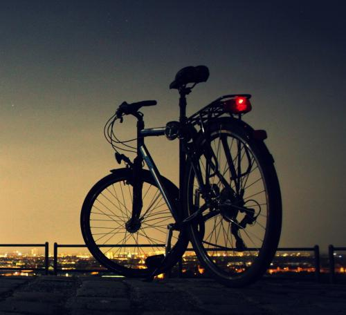 Bike in a sunset