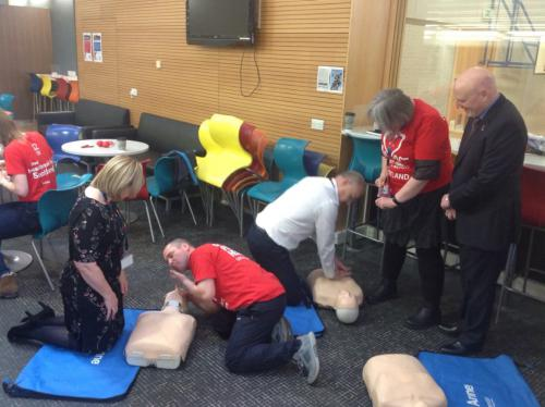 Staff learning heart start methods