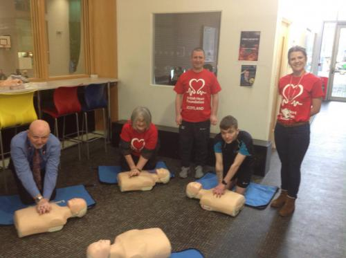 Staff and members of the British Heart Foundation