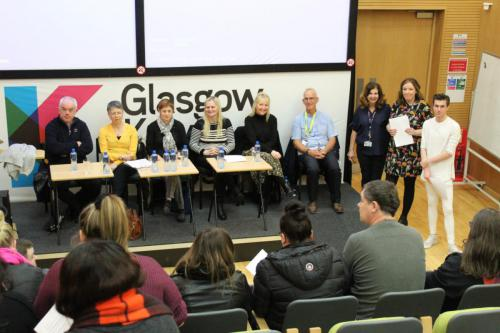 Panel at Care Student Question Time