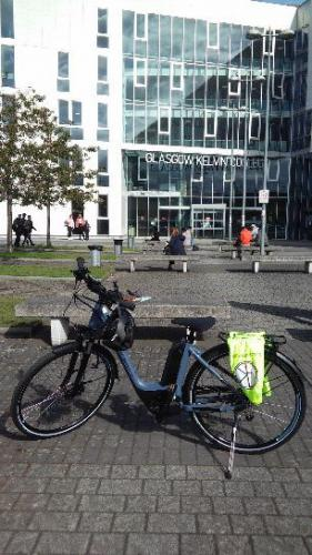 Bike in front of Springburn Building