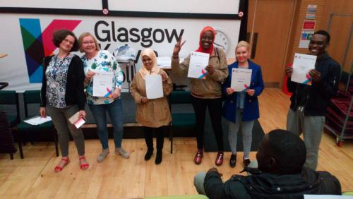 ESOL Students with certificates