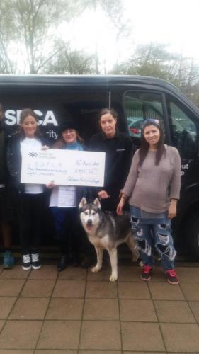 Enterprise students Fundraising for SSPCA
