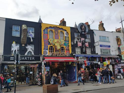 row of shops in Camden Town