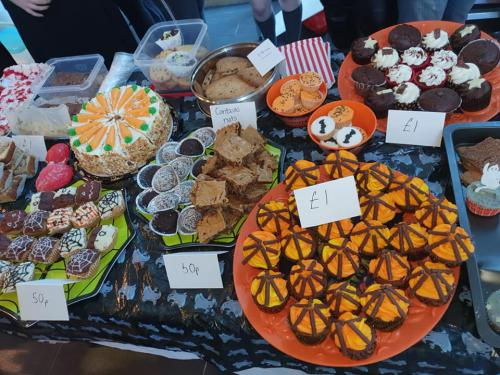 selection of cakes for sale