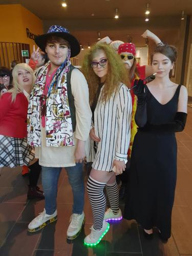 students in fancy dress
