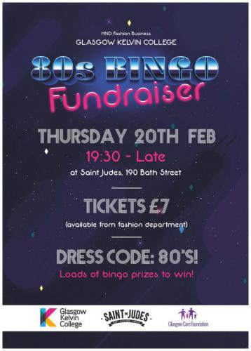 Poster for Fashion Bingo Fundraiser