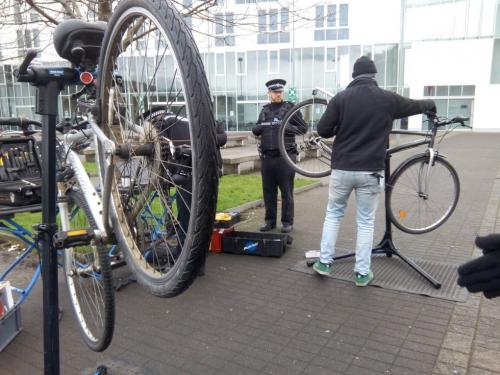 Police and Cycle technician