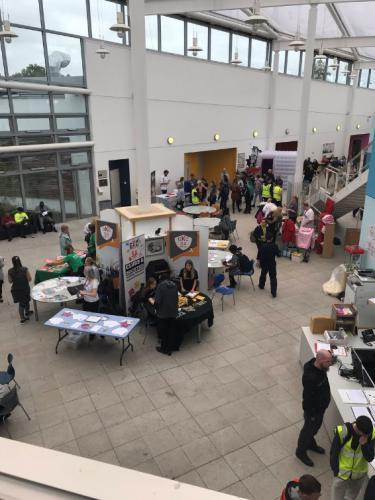view of people visiting stalls at frashers week