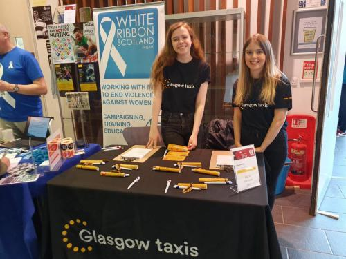 Glasgow Taxi staff at freshers week