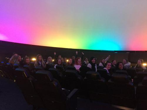 Students at the Glasgow Science Centre