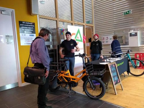 Viewing an e-bike during Go Green Week