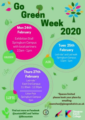 Let's celebrate Go Green Week 2020 Poster