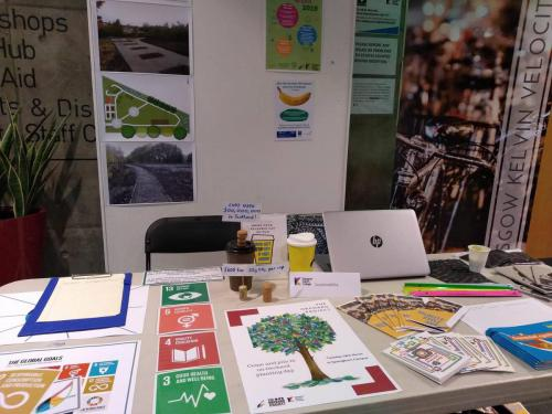 Leaflets and posters for Go Green Week