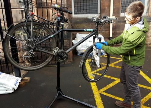 Cycle maintenance during Go Green Week