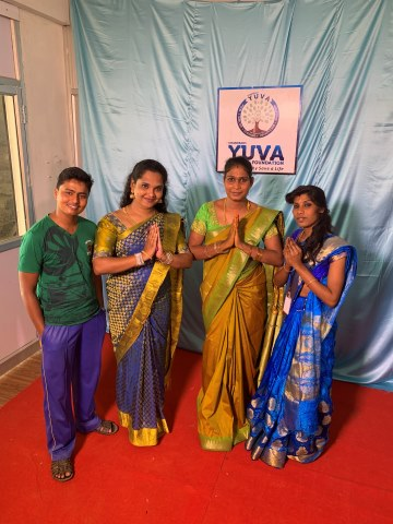Ladies in Indian national dress