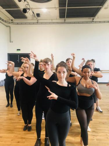 Musical Theatre students in dance studio