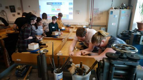 New NC Jewellery students working on challenge