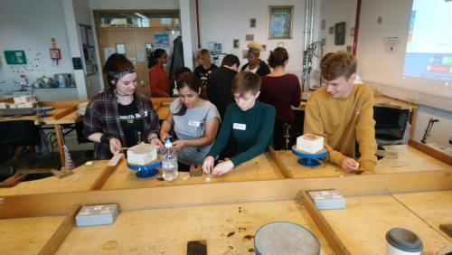 NC Jewellery students working together on challenge