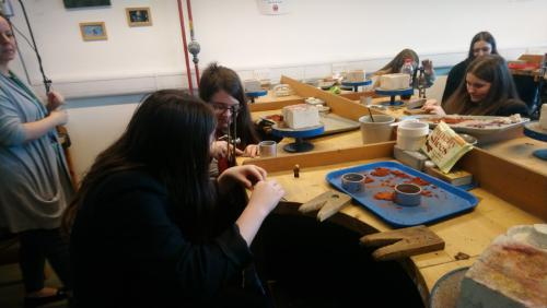 School Engagement - Jewellery making techniques demo