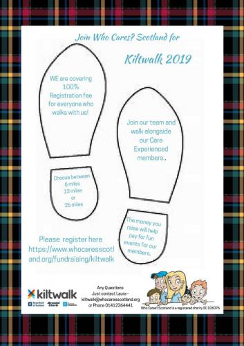Poster for Kiltwalk for Who Cares