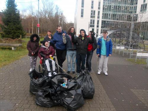 Litter picking team