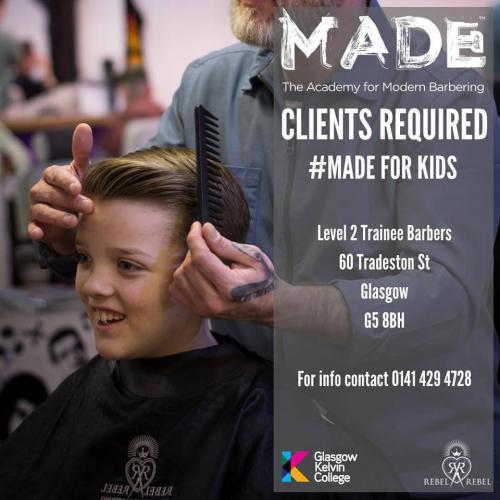 Poster for MADE barbering