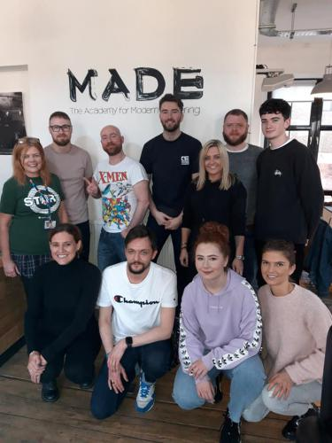Staff and students of MADE Barbering