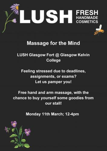 Poster for Lush event