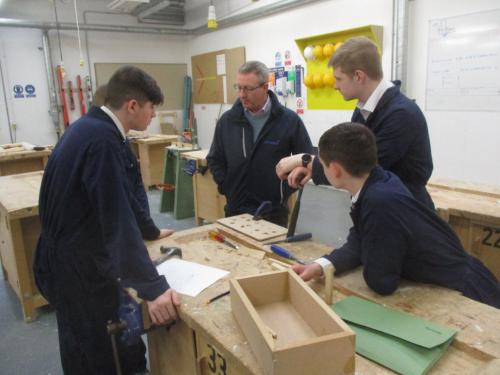 Steven from the McTaggart Group with students
