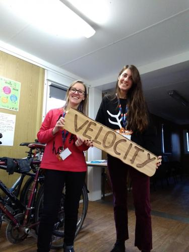 Sandra and our Campus Cycling Officer, Olga wish you a lovely Christmas and a very active New Year!