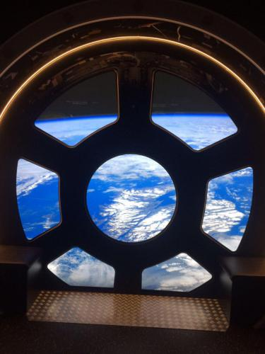 earth through a window