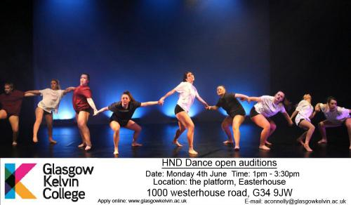 Open Dance Audition poster