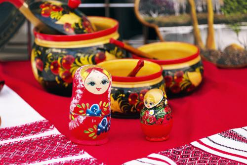Maslenitsa - Russian dolls and bowls