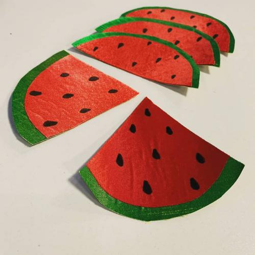 Watermelon slices made of fabric