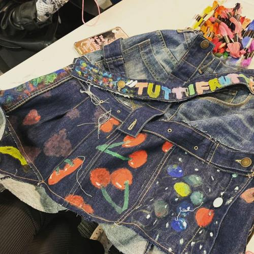 Tutti fruitti inspired denim