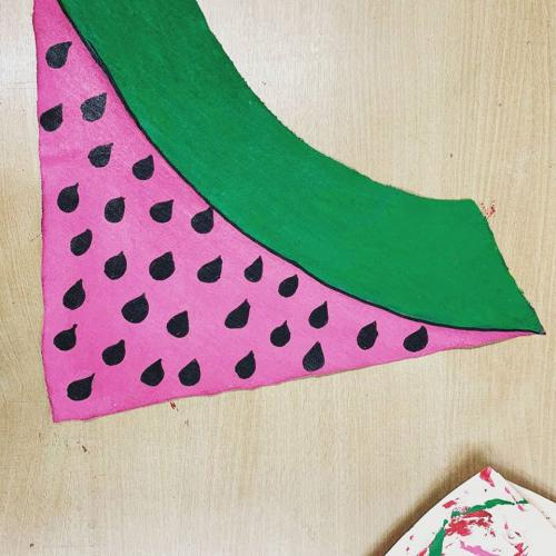 watermelon section made from fabric
