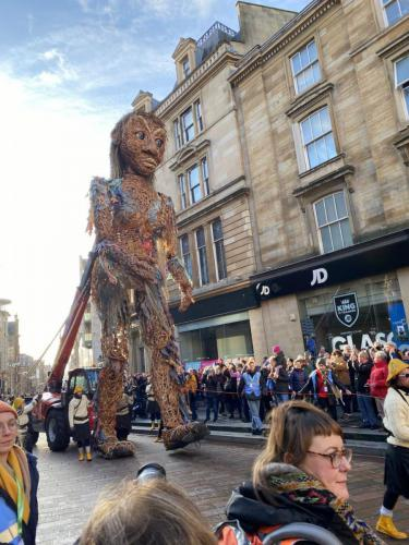 Large puppet at centre of Project Storm