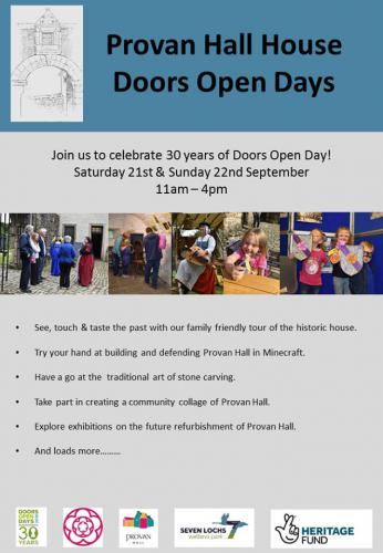 Provan Hall Open Doors Poster