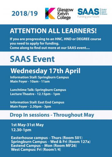 SAAS Event poster