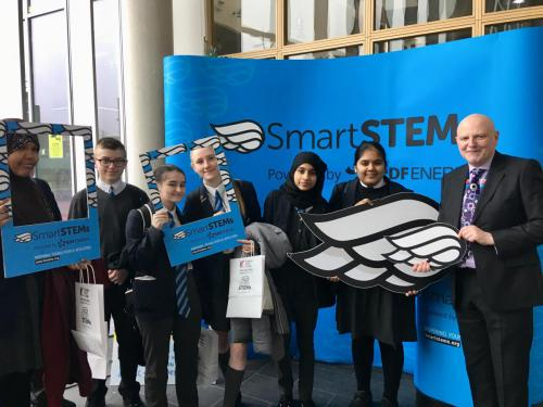 STEM Event - students with Alan Sherry