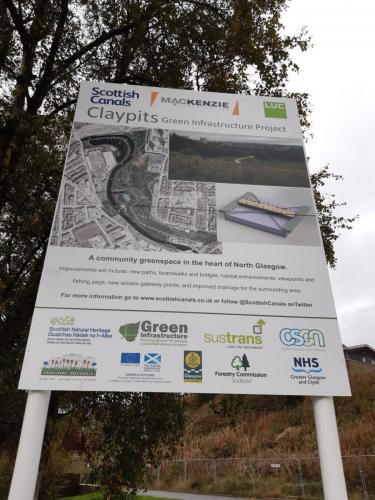 sign at claypits site