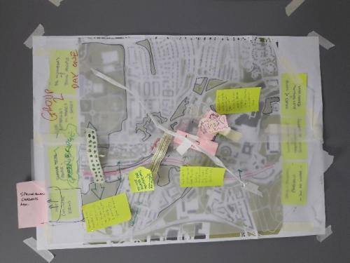 Shaping the Future' community workshop - map