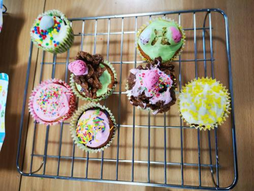 Selection of cupcakes made