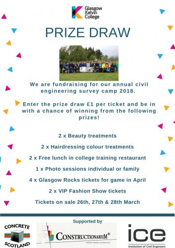 Survey Camp Fundraising poster