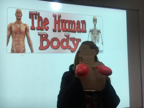 Student taking part in The Human Body unit